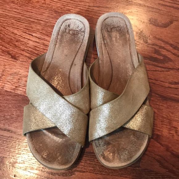 Uggs Woman Kari Glitter Sandals Size 9